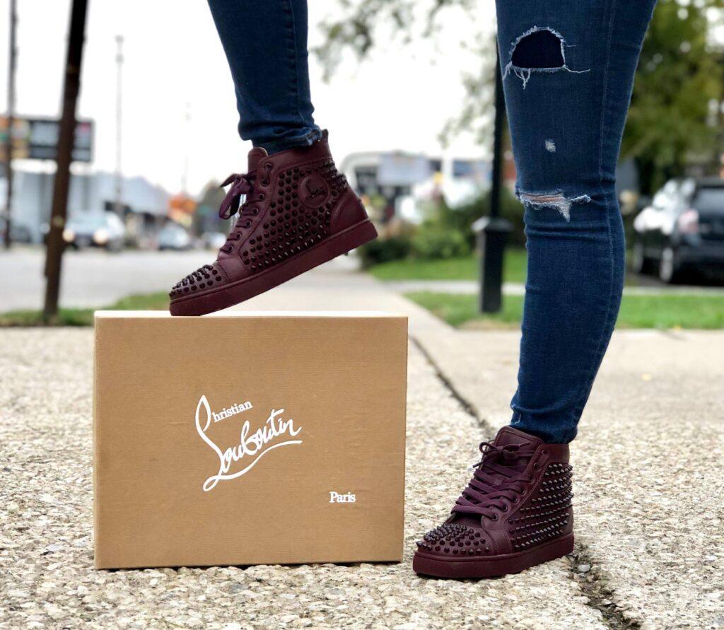 woman boot on box